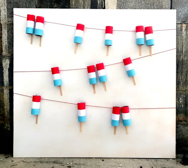 Patriotic Popsicle Garland | 4th of July | Party Decor | Red, White and Blue | America | Americana | Independence Day | Fourth of July | 4th of July Decorations | American Decor | DIY Party | DIY Decor | Six Clever Sisters
