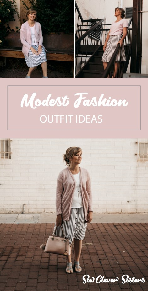Modest Fashion | Modest Skirts | Modest Skirts with Pockets | Summer Skirts for Women | Inherit Clothing Co | Modest Skirts for Sale | Looking for a nice lightweight skirt for summer? This modest skirt from Inherit Clothing Company is super lightweight and comfy; it even has pockets! #modestfashion #inheritco #shareinheritco #modestskirts #modestskirtsoutfits #modestskirtsoutfitssummer #sixcleversisters