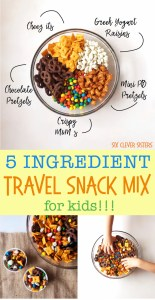 Travel Snack Mix... for kids!!!   Trail Mix   Easy snack   Snack Mix Recipes   Snack Mix for kids   Snack mix recipes sweet   Trail mix   Trail Mix recipes for Kids   Trail Mix recipes Easy   Travel snacks Roadtrip   Travel Snacks for Kids   Snack Ideas   Snacks or kids   Six Clever Sisters