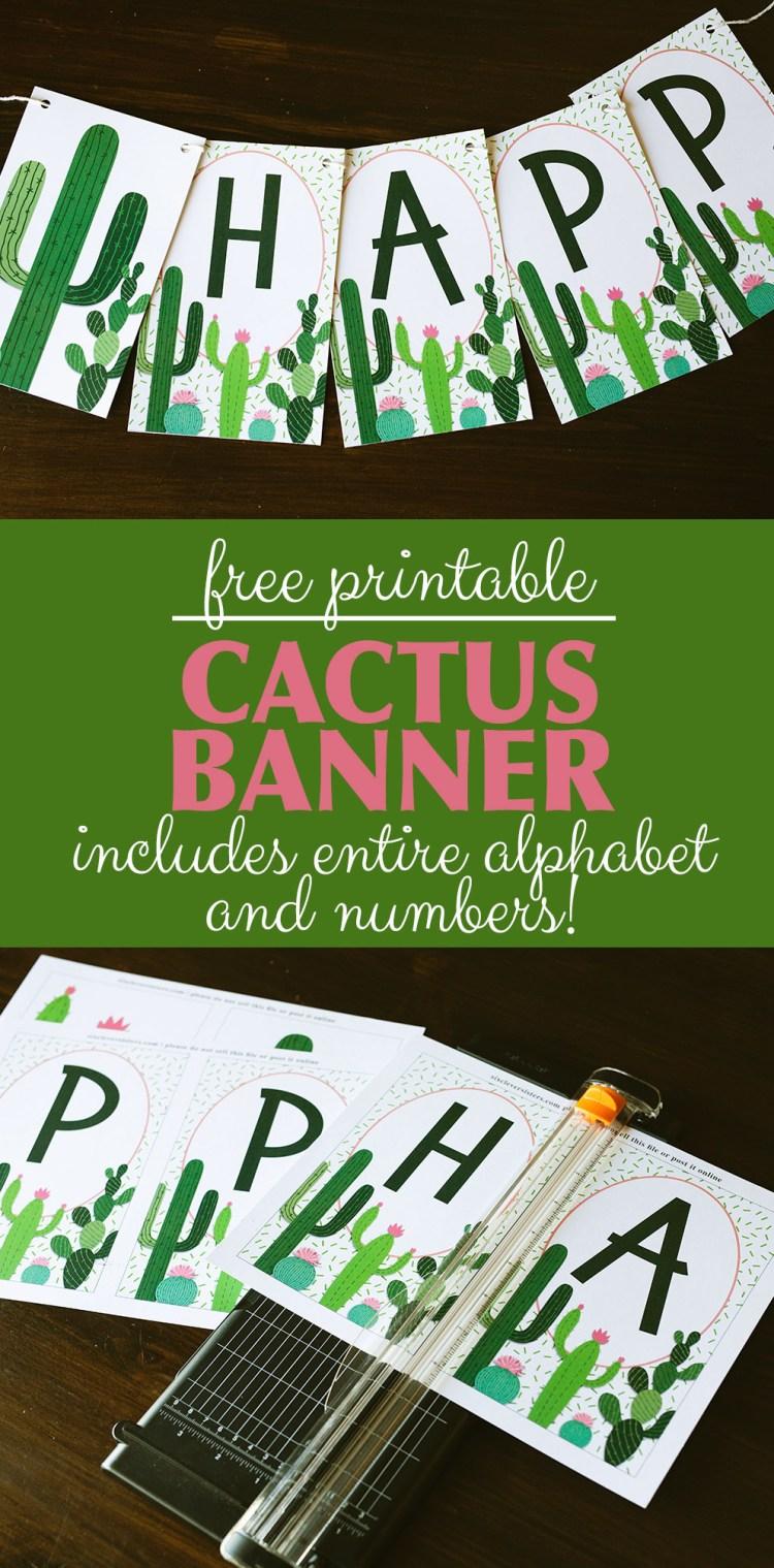 Cactus Birthday Banner | Cactus Banner | Cactus Banner DIY | Cactus Birthday Banner DIY | Cactus Banner Printable | Cactus Banner Free | Cactus Banner Printable | Cactus Banner Free Printable | Cactus Party Banner Printable | Cactus Birthday Banner Free Printable #cactus #cactusparty #cactusbirthday