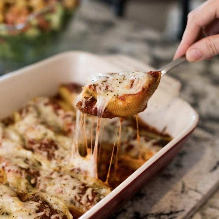 Stuffed Shells Recipe - An EASY Weeknight Dinner PLUS an Easy Freezer Friendly Meal !