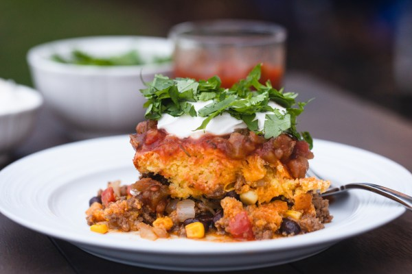 Easy Tamale Pie with Jiffy Corn Muffin Mix
