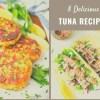 Tuna Recipes   Tuna   Healthy Tuna Recipes   Tuna Casserole   Tuna Steaks   Enjoy 8 different recipes of tuna from tuna steaks to tuna casserole to tuna salads! SixCleverSisters.com