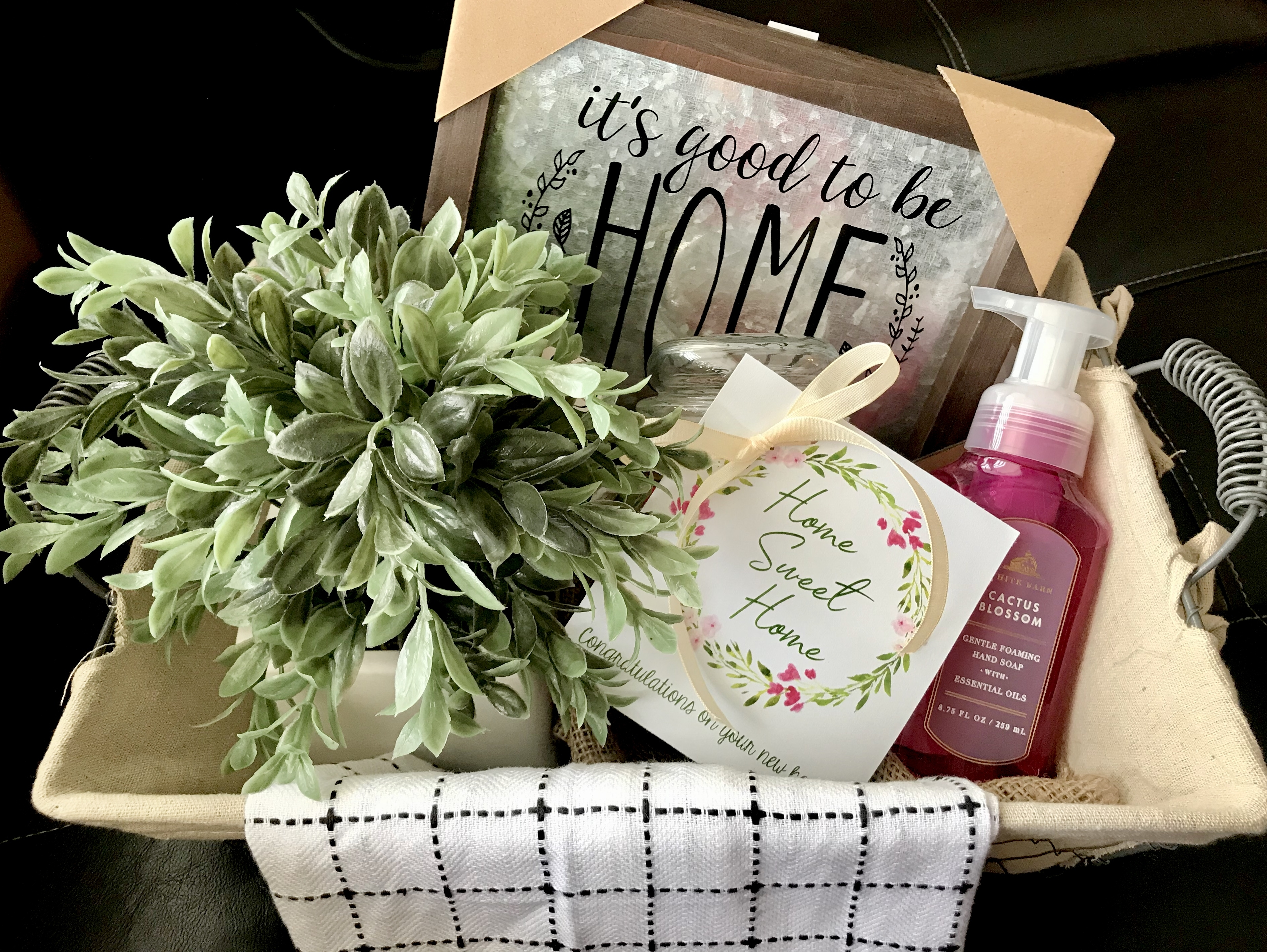 Housewarming Gift Idea With Printable Tag Six Clever Sisters