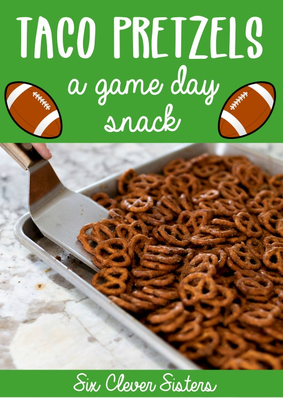 Super Bowl Food Ideas | Super Bowl | Super Bowl Snacks | Super Bowl Snack Ideas | Super Bowl Snack Recipes | Super Bowl Snacks Easy | Super Bowl Snack Foods | Football Snacks | Flavored Pretzels Homemade | Snack Ideas Easy Quick | Looking for a fun but super easy snack to make for your football party? These taco flavored pretzels, aka super easy snack recipe, would be perfect to take to your Super Bowl Party. It's a snack that is full of flavor and you'll find yourself wanting to eat the whole batch! #snack #football #superbowl #easysnack #snackideas