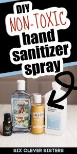DIY Hand Sanitizer   Hand Sanitizer Spray   DIY Sanitizer   Alcohol-based Hand Sanitizer Spray   This is an easy to make hand sanitizer spray that is alcohol-based but very moisturizing. Find the recipe and tutorial at SixCleverSisters.com