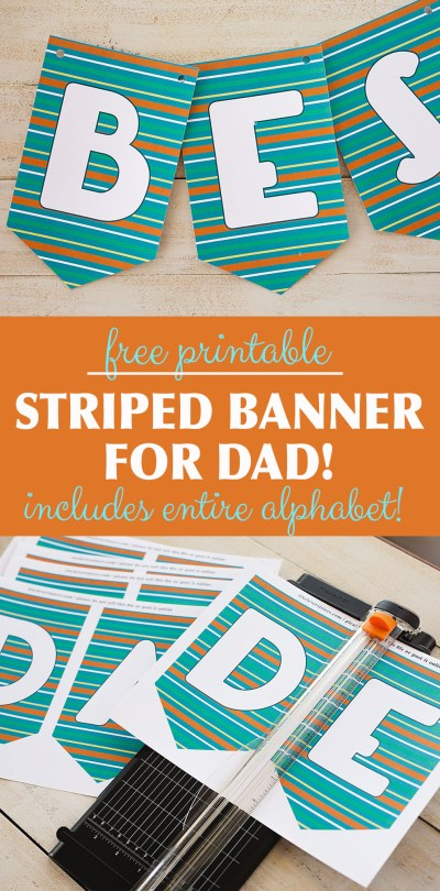 Fathers Day Banners Free Printable | Fathers Day Banner Printable | Fathers Day Banner Free | Fathers Day Banner Ideas | Fathers Day Banner DIY | BEST DAD EVER, HAPPY FATHERS DAY, and HAPPY BIRTHDAY banners on the Six Clever Sisters blog!