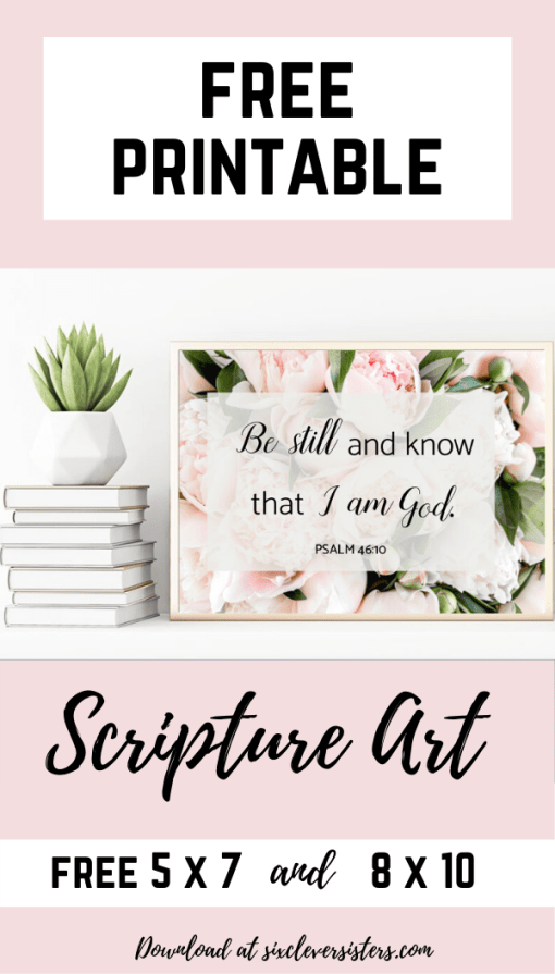 Printables | Free Printable | Printable Art | Printable Art Free | Free Printable Art | Scripture Printables | Scripture Printable Signs | Printable Scripture Verses | Printable Scripture Art Free | These lovely, floral Scripture signs are a great way to add some new decor to your home. Download these free printables on the Six Clever Sisters blog.