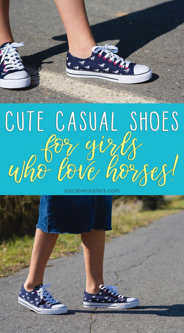 Shoes for girls that love horses | Shoes with Horses on them | Horse Pattern Shoes | Cute shoes with horses on them | Horse Lovers Sneakers | Girls Shoes Horses