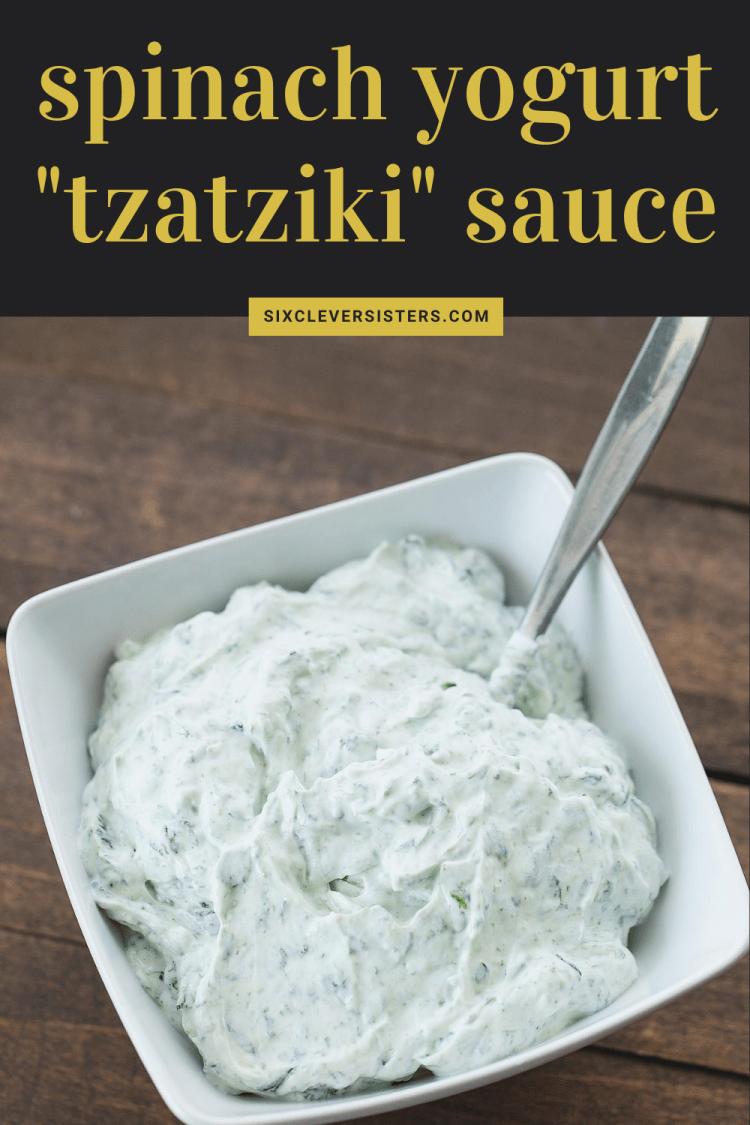 Spinach Yogurt Tzatziki Sauce | Spinach Yogurt Dip | Spinach Dip | Spinach Recipes | Tzatziki Sauce Recipe Easy | Easy Tzatziki