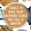 Backyard | Fall | Winter | Outdoors | Fall Weather | Patio | Landscaping | Winter Yard | Camping | Outdoor Entertaining | Entertaining | Fall Party | Winter Party | Six Clever Sisters