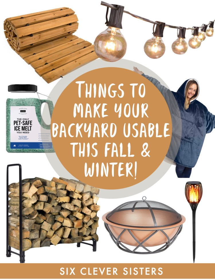 Outdoors in the Cool Weather | Backyard | Fall | Winter | Outdoors | Fall Weather | Patio | Landscaping | Winter Yard | Camping | Outdoor Entertaining | Entertaining | Fall Party | Winter Party | Six Clever Sisters