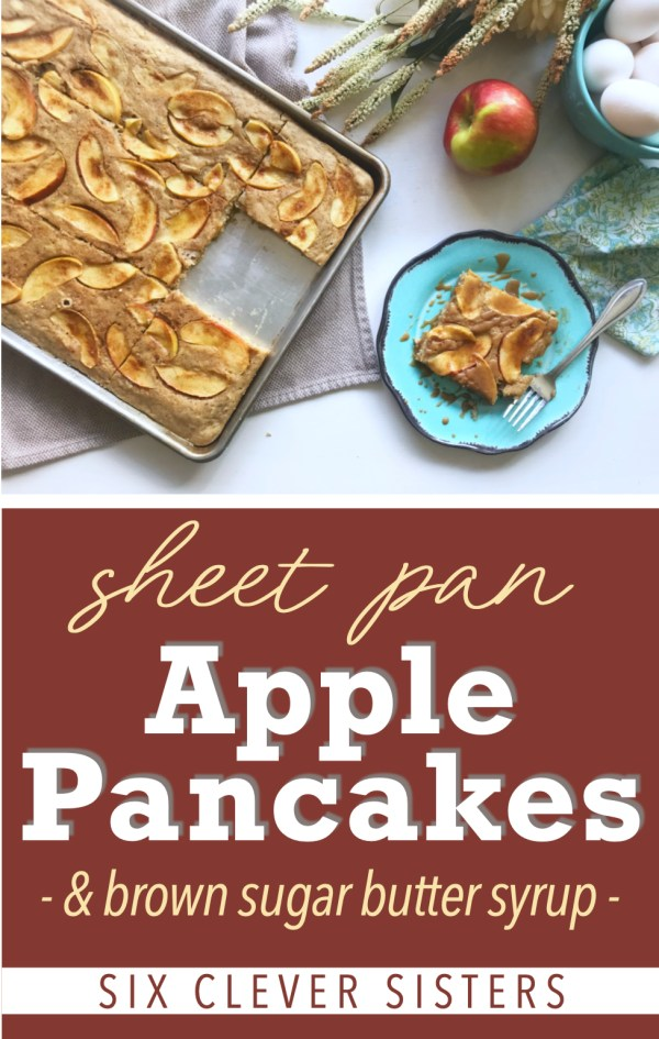 Sheet Pan Apple Pancakes | Oven Pancakes | Pancakes | Easy Breakfast | For a Crowd | Apple Cake | Breakfast for a Crowd | Holiday Breakfast | Easy Dessert | Pancakes Recipe | Pancakes from Scratch | Pancakes Easy | Apple Recipes | Apple Desserts | Six Clever Sisters