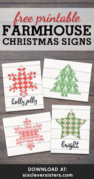 Free Printable Farmhouse Christmas Signs | Farmhouse Christmas Sign Printables | Farmhouse Christmas Printables Free | Farmhouse Christmas Decor Free Printables