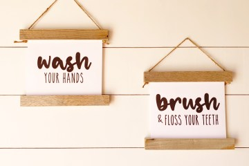 Free Printables for Home | Free Printable Wall Art | Free Printables Farmhouse | Farmhouse Decor | Farmhouse Bathroom | Free Printables | Six Clever Sisters