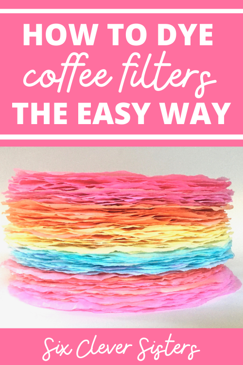 Coffee Filter Crafts | Coffee Filter Craft Ideas | How to Dye Coffee Filters | How to Dye Coffee Filters the Easy Way | How to Dye Coffee Filters With Food Coloring | Dye Coffee Filters | Want to make coffee filters into something fun for kids to use in crafts and art projects? Here is the easy way to dye coffee filters using food coloring. With just a few simple steps, these will be ready to use in crafts in no time! #crafts #kidscrafts #howto #tutorial #diy #craftsforkids