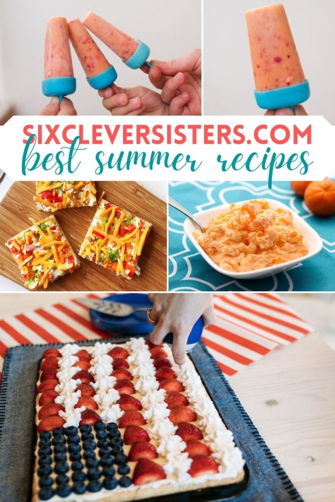 Summer Recipes | SixCleverSisters | Healthy Popsicles | Ice Cream Sandwiches | Summer Desserts | Easy Recipes | Summer Party Foods | Find all these yummy recipes and more for your summer party at SixCleverSisters.com