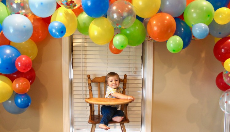 Balloon Arch DIY | Balloon Arch Background | Balloon Arch Ideas | How to Make A Balloon Arch | Rainbow Balloon Arch | Six Clever Sisters