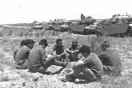 Tank unit waiting for orders in the south