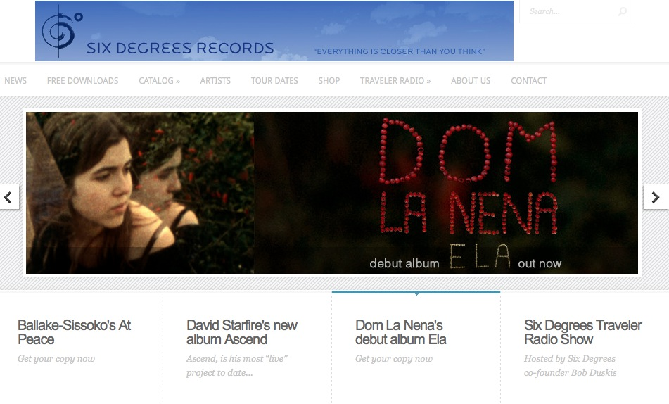 Six Degrees Record's launches new website