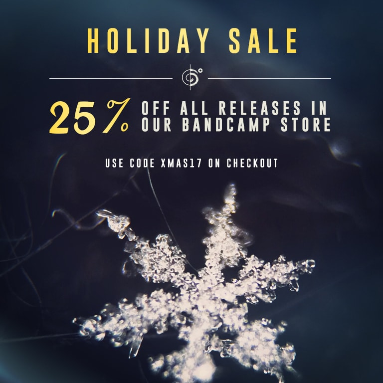 Save 25% on everything in our bandcamp store
