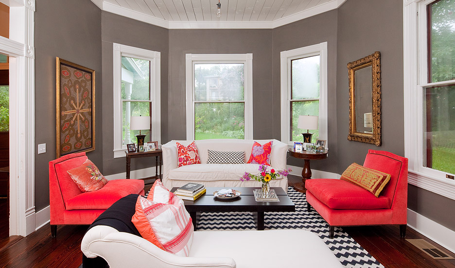 Colour matches... Coral and Grey on Pinterest