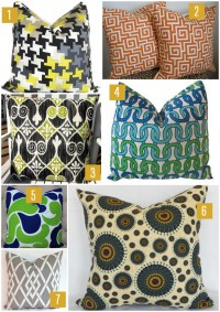 Etsy Roundup: Outdoor Pillows   Six Different Ways