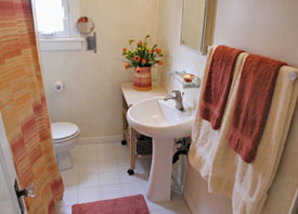 Bathroom redecorated for spring