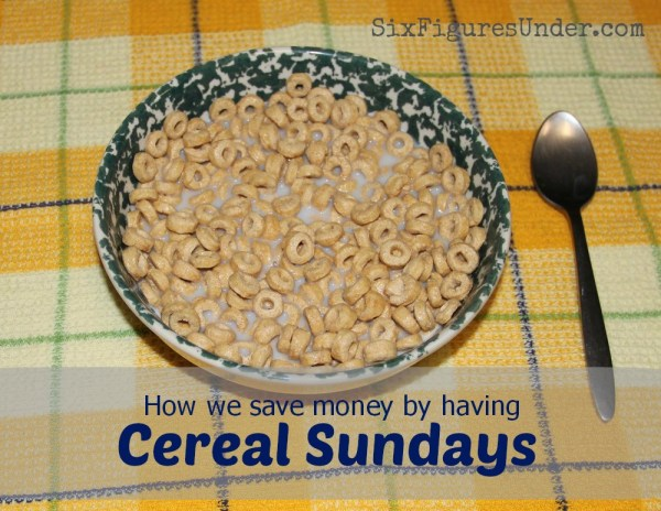 save moeny with cold cereal sundays