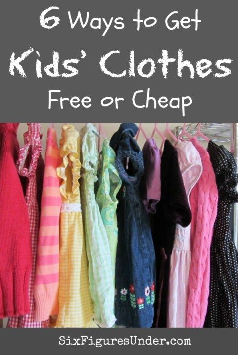 You could break the bank buying clothes for your children. The sooner you learn to get clothes for free or cheap, the more you'll save! Here are 6 detailed ways to find inexpensive kids clothes.