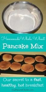 Homemade Whole Wheat Pancake Mix