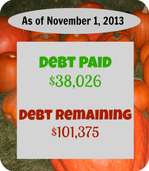 debt payoff stats nov 1 2013