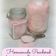 Homemade Powdered Laundry Detergent with Zote