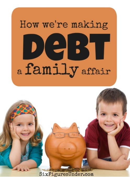 We have made some conscious choices to help our children understand and be a part of our debt repayment journey and we're really glad we did! Here's how and why we're making debt a family affair.