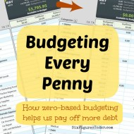 Budgeting Every Penny– How zero-based budgeting helps us pay off more debt