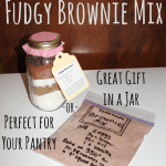 Homemade Brownie Mix is makes a great gift in a jar.  It's perfect for your pantry too