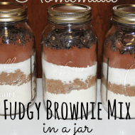 Fudgy Brownie Mix in a Jar– Fast and Easy Homemade Gift– Frugal Festivities Day #18