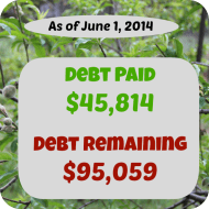 May 2014– Debt Repayment Progress Report