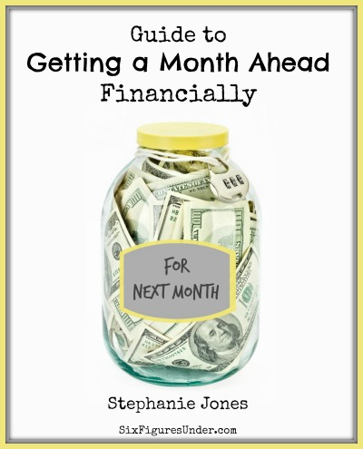 "Get the ""Guide to Getting a Month Ahead Financially"" FREE now!"