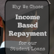 Why We Chose Income Based Repayment (IBR) For Our Student Loans
