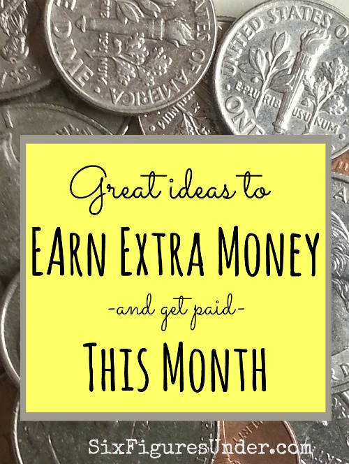 Whether you want to earn extra money for the holidays or to pay down debt, here are some great ideas of things you can do now to get paid this month!