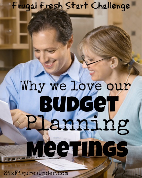 It may not sound fun, romantic, or exciting, but I really look forward to our monthly budget planning meeting. We treat it like a date! Seeing our progress, reaffirming our goals, and making sure we're on the same page is motivating and fun!