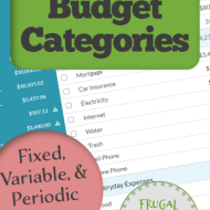 Define Budget Categories for Periodic, Variable, and Fixed Monthly Expenses