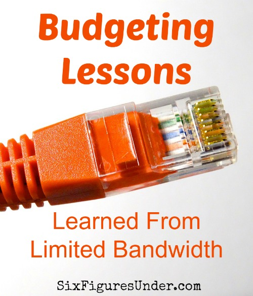 Do you ever think of things besides money when you think of budgeting? Budgeting our limited bandwidth internet has brought out some important lessons that apply to budgeting money.