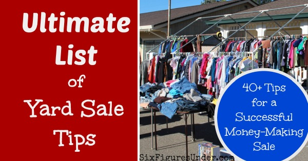 Ultimate List of Yard Sale Tips FB