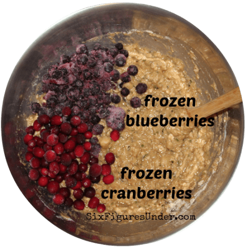 Everything Muffins- add blueberries and cranberries