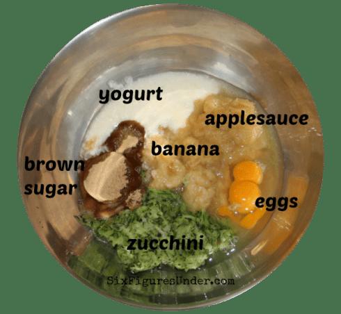 Everything Muffins- wet ingredients