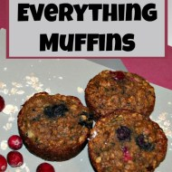 Everything Muffins– Healthy Banana Zucchini Berry Muffins