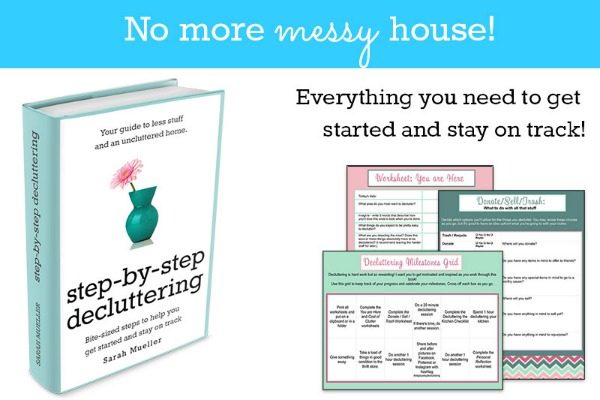 Are you frustrated and overwhelmed by all the stuff in your house? Do you feel like you're constantly cleaning but never making any progress? I love this simple, encouraging method!