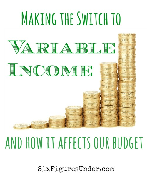 What would you do if your your consistent, reliable paychecks suddenly became variable?  Would it affect how you budget?  Here's how we are making the switch to variable income and how it affects our budget.